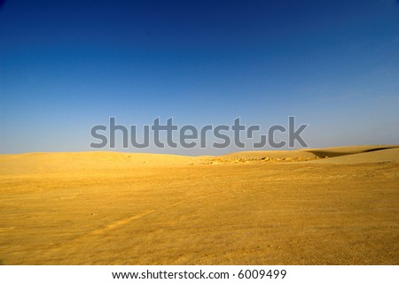 Tunisian desert - stock photo