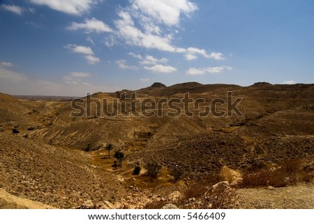 Tunisian mountains - stock photo