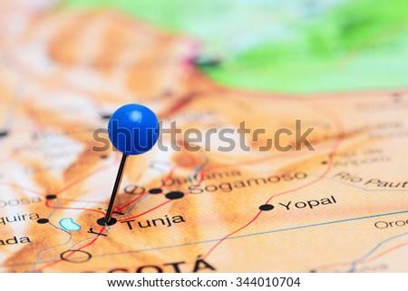 Tunja Pinned On Map America Stock Photo Shutterstock - Tunja map