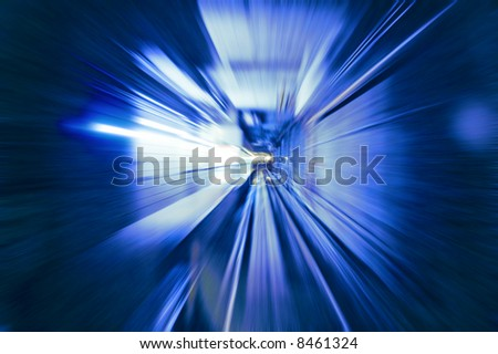 Tunnel -Abstract View - stock photo