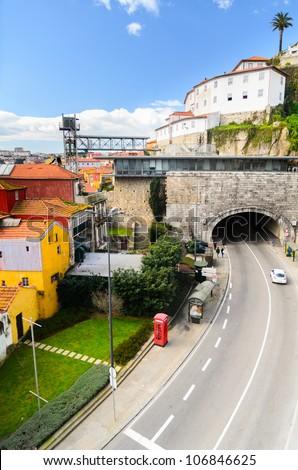 Tunnel da Ribeira at Porto, Portugal - stock photo