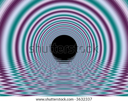 Tunnel Fractal - stock photo