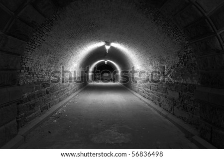 Tunnel in Central Park - stock photo