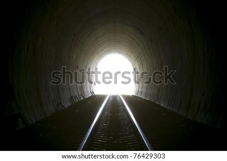 Tunnel light. Thailand - stock photo
