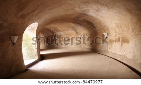 tunnel of unique mosque at taman sari water castle - the royal garden of sultanate of jogjakarta