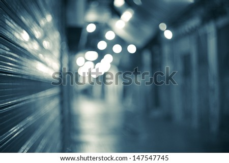 tunnel to another life,blue background - stock photo