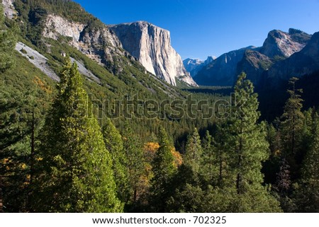 Tunnel View of Yosemite Valley - stock photo