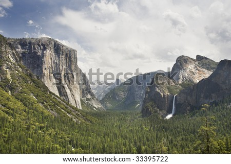 Tunnel view. Yosemite National Park. - stock photo