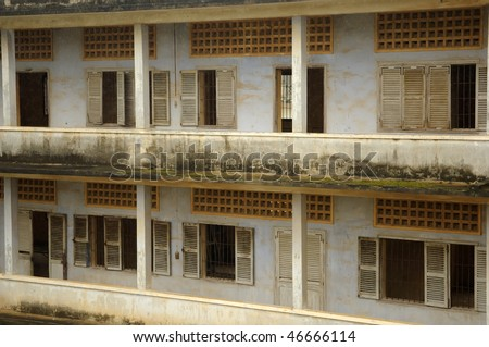 Tuol Sleng prison in Phnom Penh, Cambodia. This building was a concentration camp during the Cambodian genocide under the Khmer Rouge