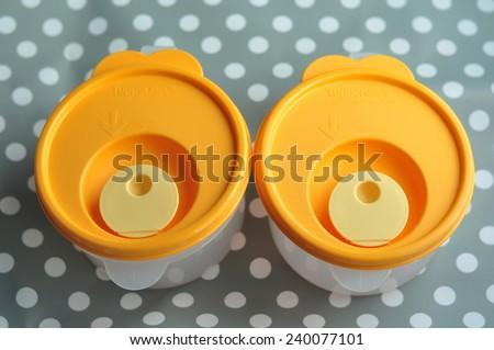 Tupperware set - stock photo