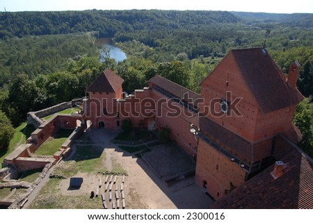 Turaida Castle, situated in Sigulda, Latvia. Popular tourists visiting place.