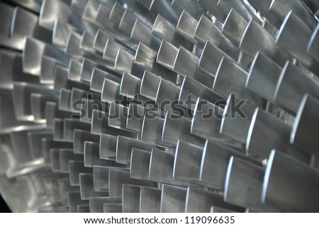 turbine blade texture background - stock photo