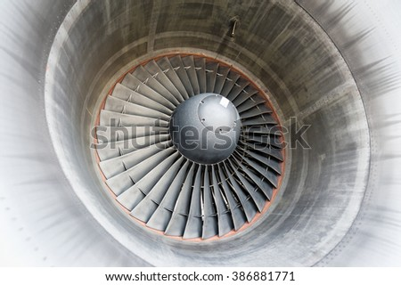 turbine blades - stock photo