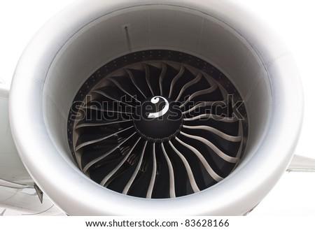 Turbine blades - stock photo