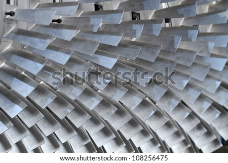 turbine blades texture background - stock photo