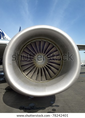 Turbine fan of a jet airplane