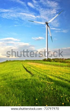 Turbine in the mountain - stock photo