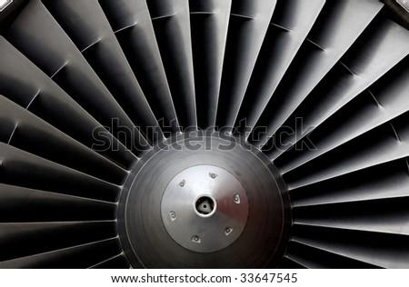 Turbine of an airplane - stock photo