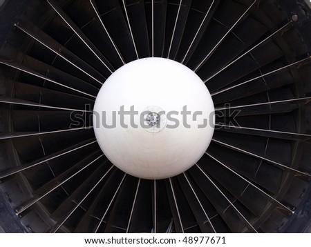 turbine of plane - stock photo