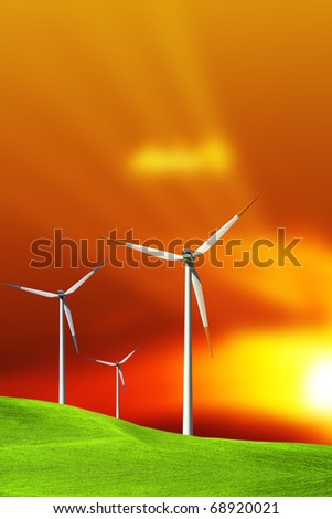 Turbines at Sunset