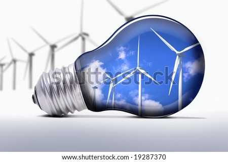 turbines lamp - stock photo