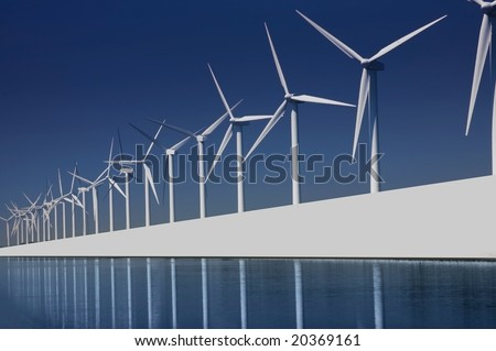 turbines park - stock photo