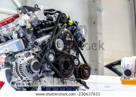 Turbo car engine - stock photo