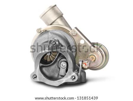 turbocharger of car engine stock photo. Black Bedroom Furniture Sets. Home Design Ideas