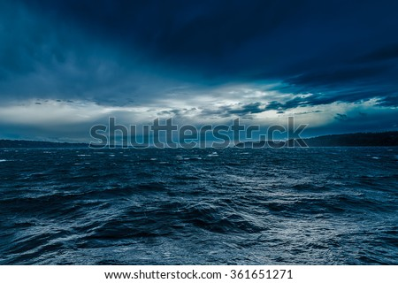 Turbulent Ocean - stock photo