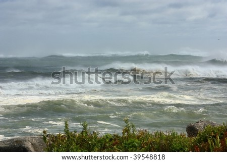 Turbulent ocean - stock photo
