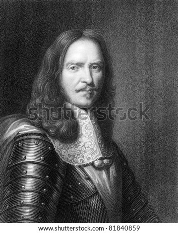 Turenne (1611-1675). Engraved by W.Holl and published in The Gallery Of Portraits With Memoirs encyclopedia, United Kingdom, 1837.