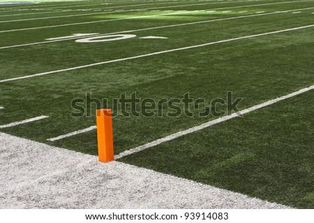Turf Football Field - stock photo