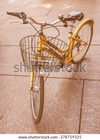 TURIN, ITALY - APRIL 09, 2014: A docking station for the cycle hire network, vintage