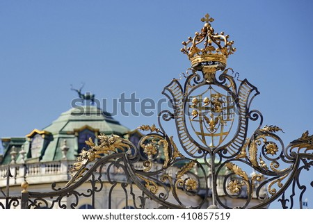 Turin, Italy - April 25, 2016:  Palazzina di Caccia di Stupinigi, Savoy Royal Residences, located in Turin and its surroundings