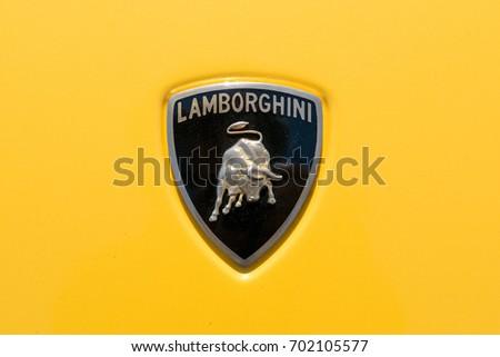 Turin Italy June 10 2017 Lamborghini Stock Photo Royalty Free