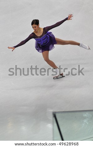 TURIN, ITALY - MARCH 26: Professional Finland skater Laura LEPISTO performs short program during the 2010 World Figure Skating Championship on March 26, 2010 in Turin, Italy.