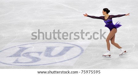 TURIN, ITALY - MARCH 26: Professional Finland skater Laura LEPISTO performs short program during the ISU 2010 World Figure Skating Championship on March 26, 2010 in Turin, Italy.