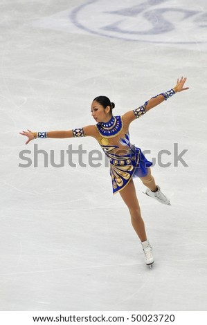 TURIN, ITALY - MARCH 27: Professional Japanese skater Miki ANDO performs free skating during the 2010 World Figure Skating Championship on March 27, 2010 in Turin, Italy.