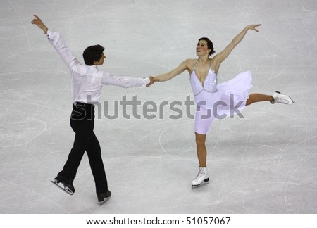 TURIN, ITALY - MARCH 26: 100th ISU World Figure Skating Championships, from from March 22 to March 28 2010, Turin, Italy. - stock photo