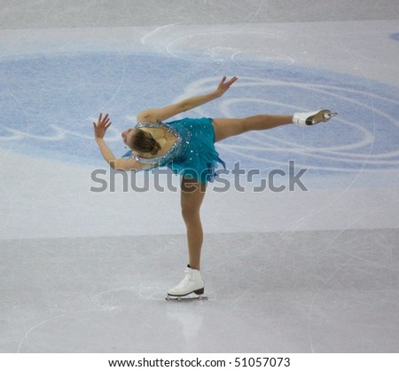 TURIN, ITALY - MARCH 27: 100th ISU World Figure Skating Championships, from from March 22 to March 28 2010, Turin, Italy. - stock photo