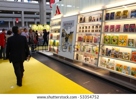 TURIN, ITALY - MAY 18: International Book Fair (Salone Internazionale del Libro), may 18 2010 in Turin, Italy - stock photo