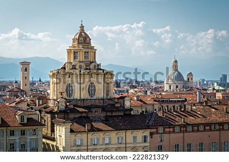 Turin (Torino), Church of San Lorenzo - stock photo