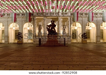 turin town square - stock photo