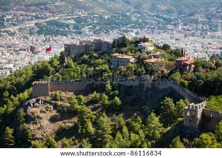 Turkey. Alanya cityscape - stock photo