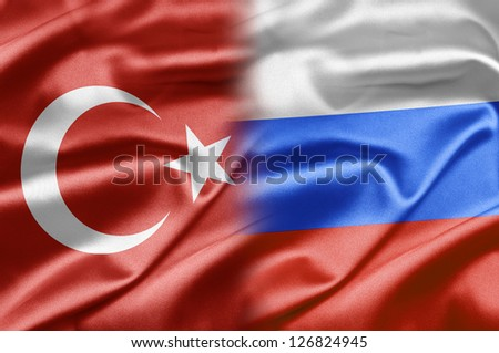Turkey and Russia - stock photo