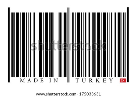 Turkey Barcode on white background