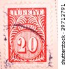 TURKEY - CIRCA 1961: A stamp printed in Turkey shows 20 kurus, series, circa 1961 - stock photo