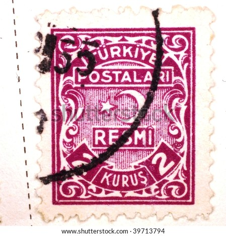 TURKEY - CIRCA 1961: A stamp printed in Turkey shows 2 kurus, series, circa 1961