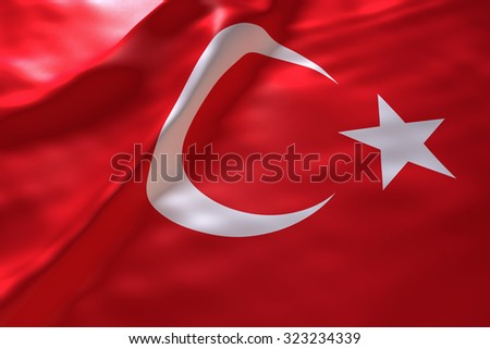 Turkey flag background