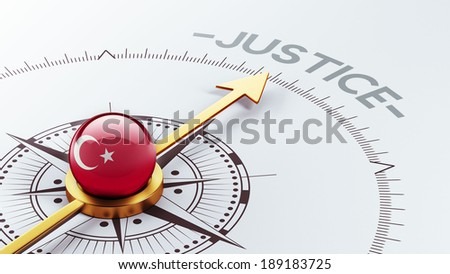Turkey High Resolution Justice Concept - stock photo